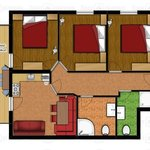Photo of apartm./3 bedrooms/shower/WC/2 bathrooms
