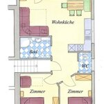 Photo of Apartment, separate toilet and shower/bathtub, 2 bed rooms