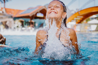 Fun for kids in the heated outdoor pool