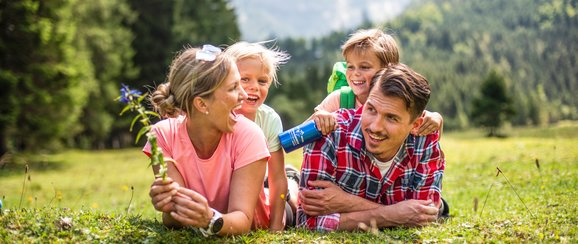 Family hiking holidays during summer in the mountains of Salzburger Sportwelt in Ski amadé